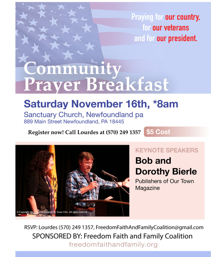 Community Prayer Breakfast - November 16, 2019 - Freedom, Faith and Family Coalition - We hold these truths to be self-evident