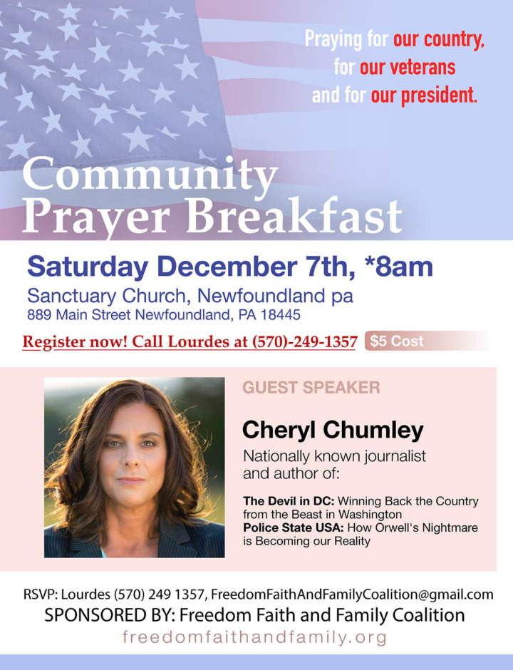 Community Prayer Breakfast - December 7, 2019 - Freedom, Faith and Family Coalition - We hold these truths to be self-evident