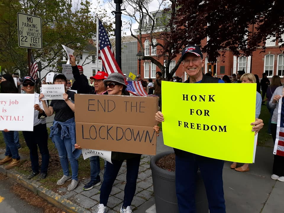 """Stop the Lockdown"" Rally in Pike County - Freedom, Faith and Family Coalition - We hold these truths to be self-evident"