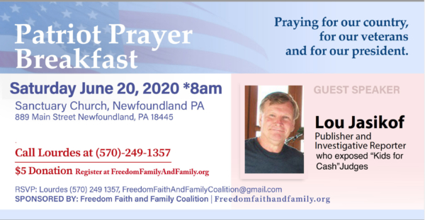 Community Prayer Breakfast 2020 - June 20 - Freedom, Faith and Family Coalition - We hold these truths to be self-evident