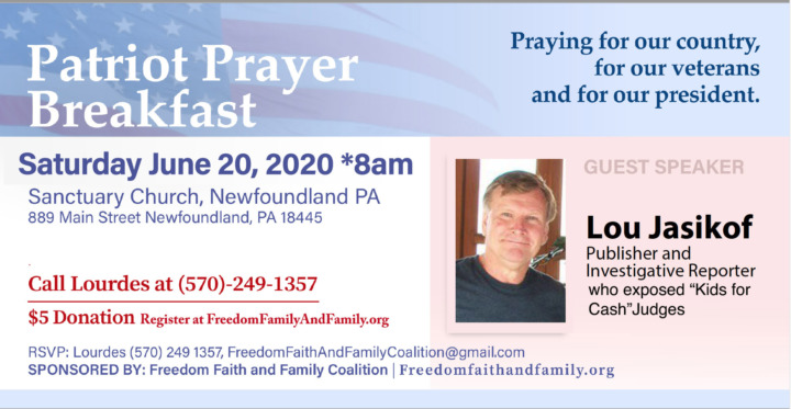 Community Prayer Breakfast - June 20, 2020 - Freedom, Faith and Family Coalition - We hold these truths to be self-evident